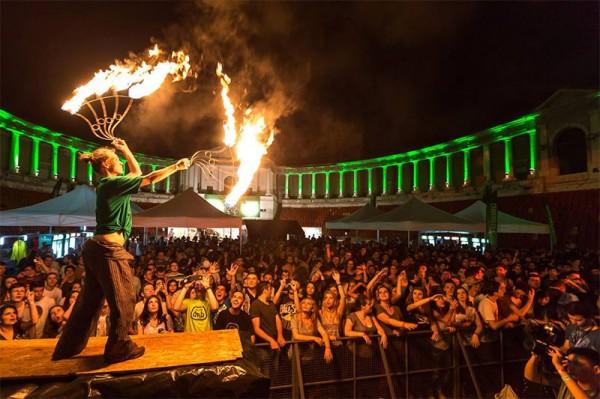 Joc cu flăcări la arena dnb summerfest 2014