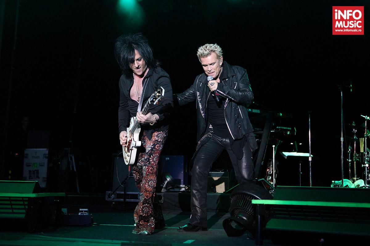 Billy Idol și chitaristul Steve Stevens la Arenele Romane - 29 iunie 2014