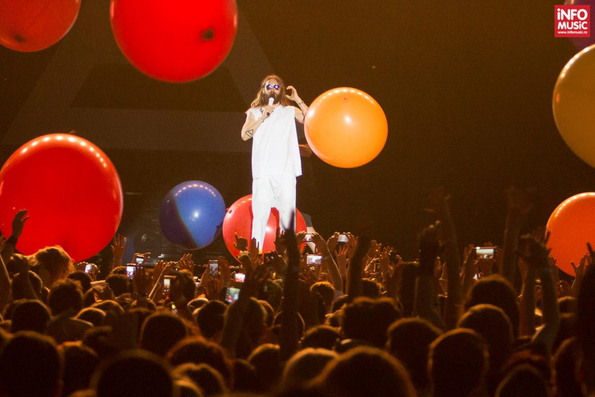Jared Leto a susținut cu Thirty Seconds to Mars primul concert în Romania pe 5 iulie 2014 la Romexpo