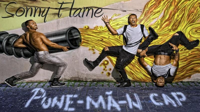 Sonny Flame promovându-și single-ul