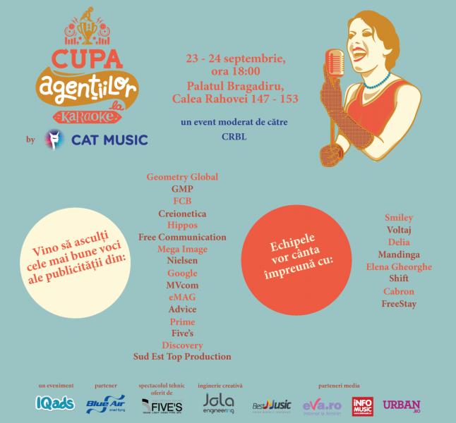 Poster eveniment Cupa Agentiilor la Karaoke