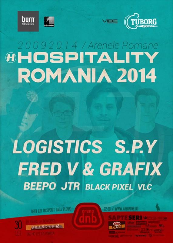 Hospitality Romania 2014 cu Logistics, S.P.Y și Fred V & Grafix