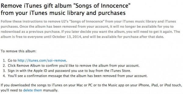 Cum să ștergi noul album U2 - Instrucțiuni oferite de U2