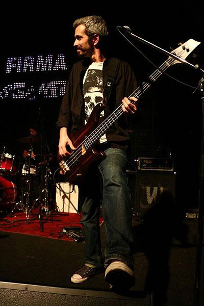 Sorin Erhan, basistul Firma - concert de lansare album Descantece