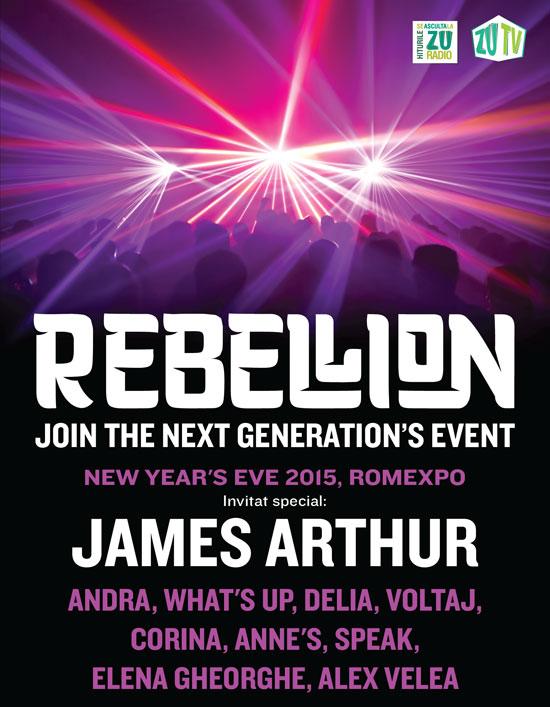 ANULAT - REBELLION 2015 cu James Arthur la Romexpo