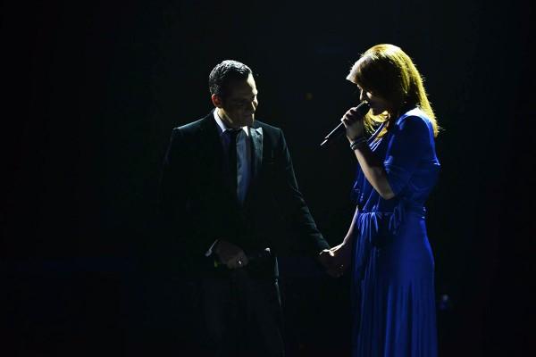 Alexandra Crișan în duet cu Ștefan Bănică în finala X Factor România 2014