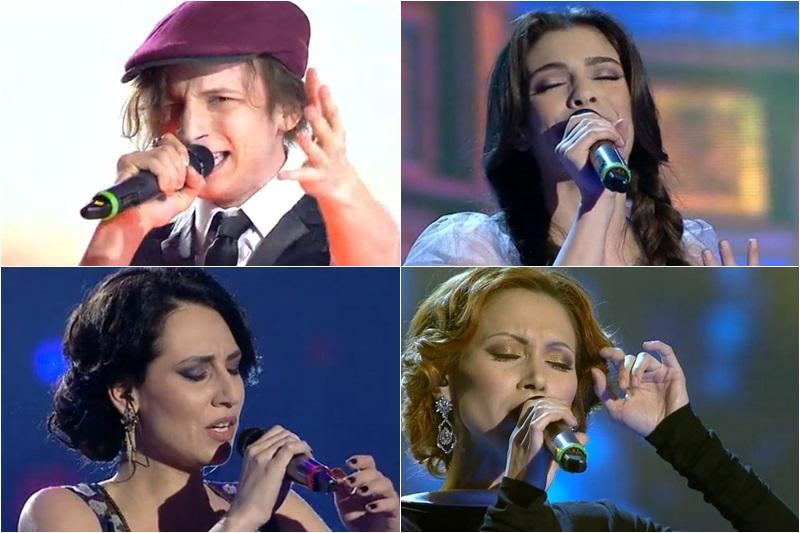 Finaliști Vocea României 2014: Tiberiu Albu, Maria Hojda, Aliona Munteanu, Anda Dimitriu
