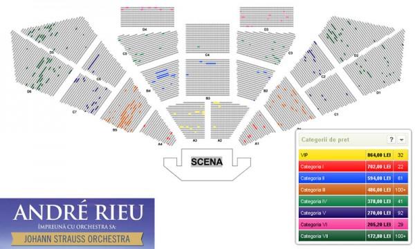 Schema locurilor la concertul Andre Rieu