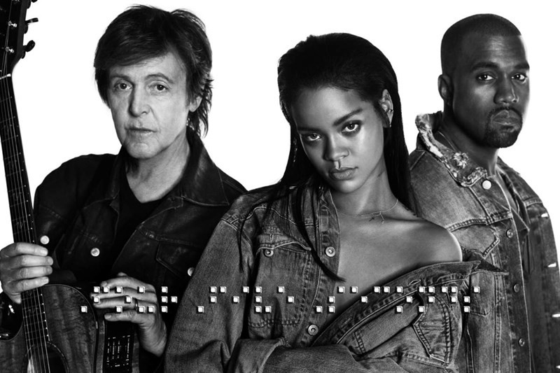 Paul McCartney, Rihanna, Kanye West