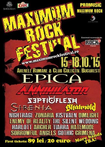 Afiș Maximum Rock Festival 2015