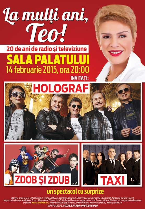 """""""La mulți ani, Teo!"""" cu Holograf, Taxi, Zdob și Zdub"""