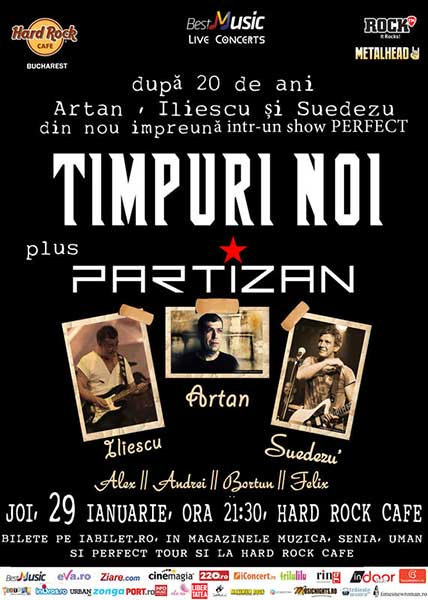 Timpuri Noi + Partizan - după 20 de ani împreună