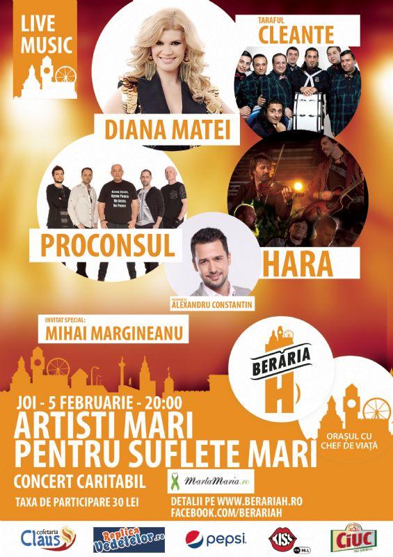 Afiş concert caritabil Berăria H
