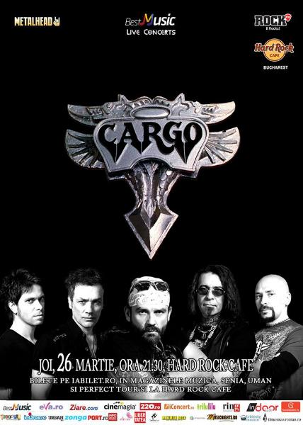 Afiş concert Cargo 26 martie 2015 în Hard Rock Cafe