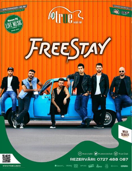Afiș Concert FreeStay 30 ianuarie 2015 True Club