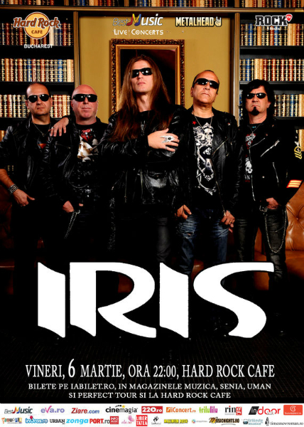Afiș Iris concert la Hard Rock Cafe 6 martie 2015