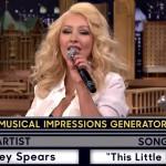 Christina Aguilera o imită pe Britney Spears în emisiunea lui Jimmy Fallon
