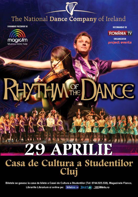 Afiș Rhythm of the Dance spectacol Cluj 2015