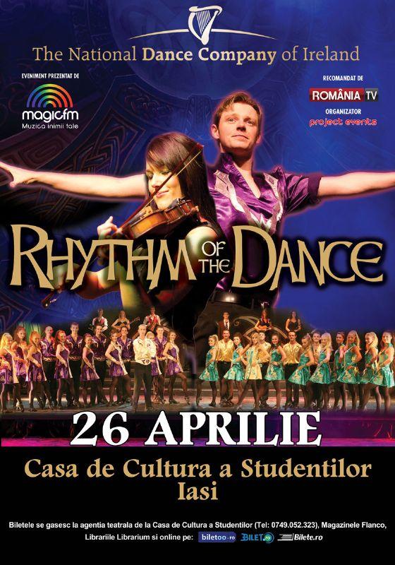 Afiș Rhythm of the Dance spectacol la Iași 2015