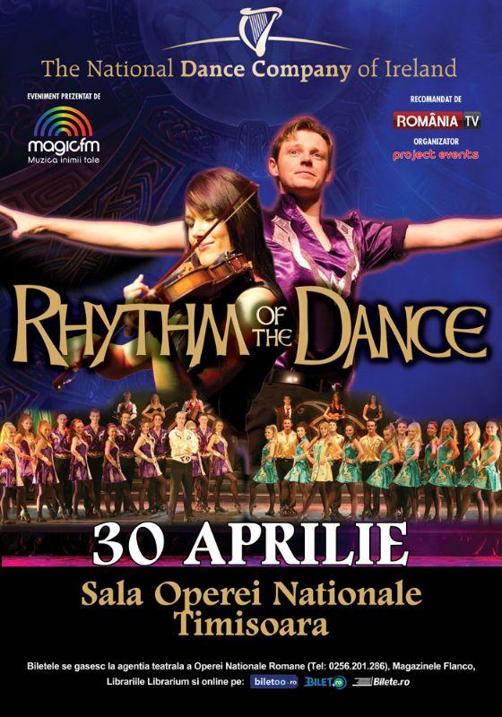 Afiș Rhythm of the dance spectacol Timișoara 2015