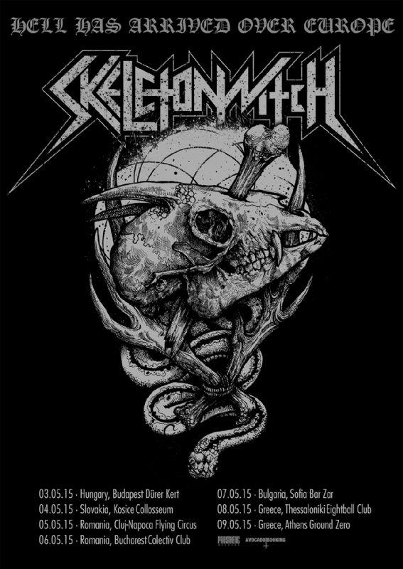 Afiș Skeletonwitch 6 mai 2015 Colectiv