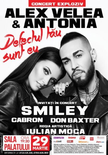 Afiș concert Alex Velea și Antonia la Sala Palatului 29 martie 2015