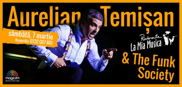 Afiș concert Aurelian Temișan la Mia Musica