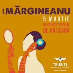 Afiş concert Mihai Mărgineanu în Tribute pe 5 martie 2015