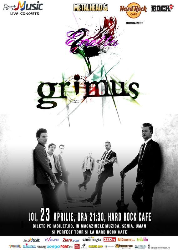 Afiș Concert Grimus la Hard Rock Cafe