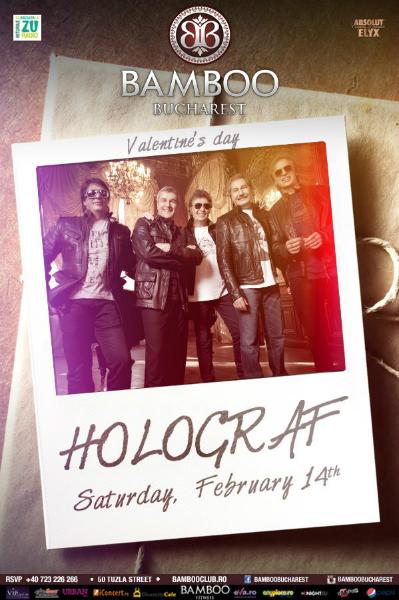 Afiș Holograf concert 14 februarie 2015 în Bamboo