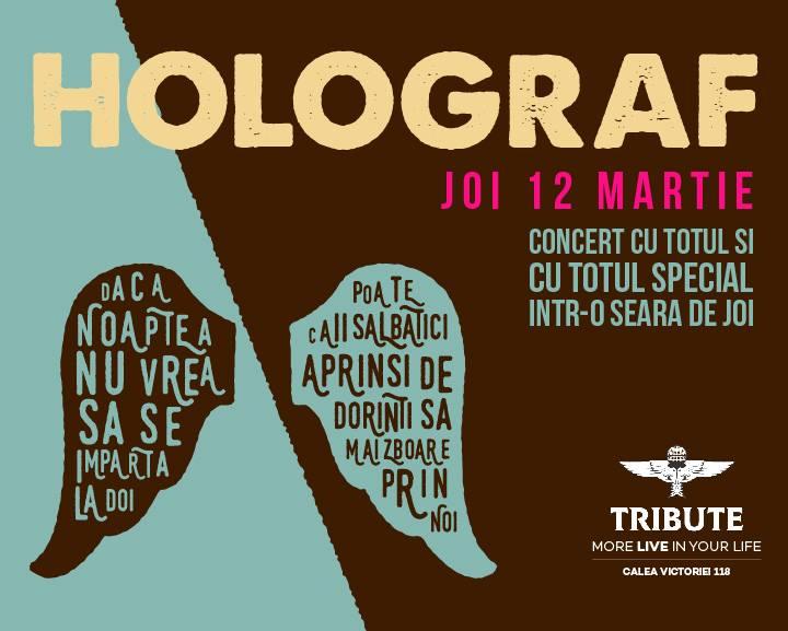 Afiș concert Holograf în Tribute pe 12 martie 2015