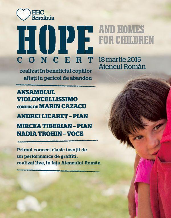 Afiș Hope Concert 18 martie 2015