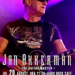 Afiș concert Jan Akkerman la Hard Rock Cafe