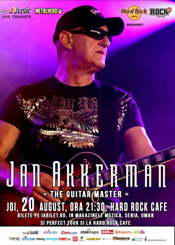 Afiș concert Jan Akkerman la Hard Rock Cafe