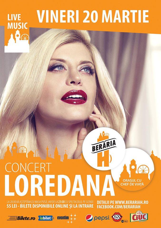 Afiș concert Loredana Groza