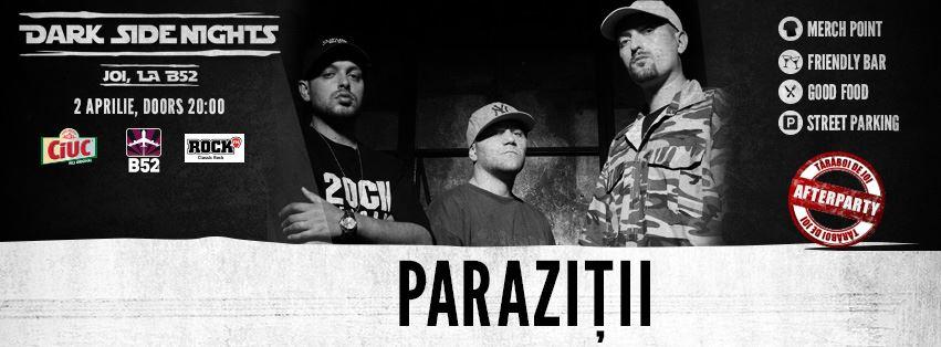 Afiș Concert Paraziții 2015