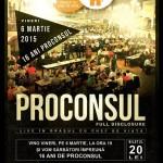 Afiş concert Proconsul la Berăria H