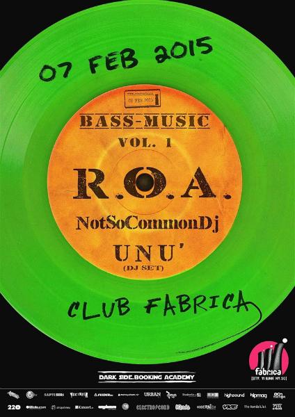 Afiș concert ROA în Fabrica 7 februarie 2015
