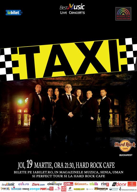 Afiș Concert Taxi la Hard Rock Cafe 19 martie 2015