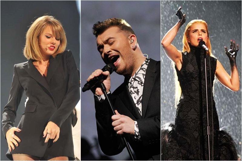 Taylor Swift / Sam Smith / Paloma Faith la Brit Awards 2015