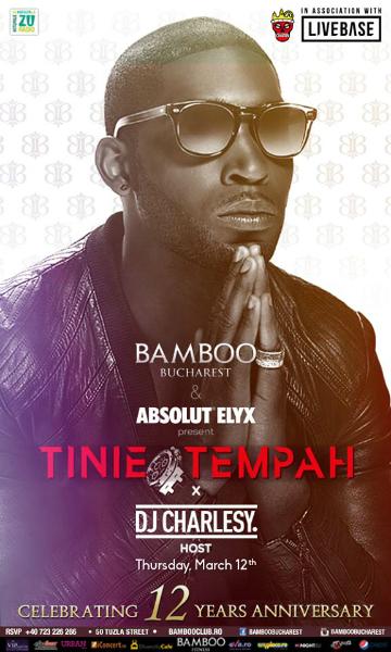Afiș concert Tinie Tempah în Bamboo