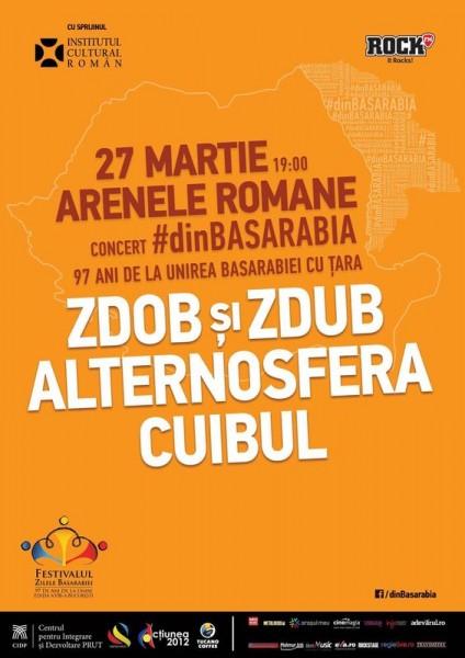 Afiş concert Zdob şi Zdub, Alternosfera şi Cuibul