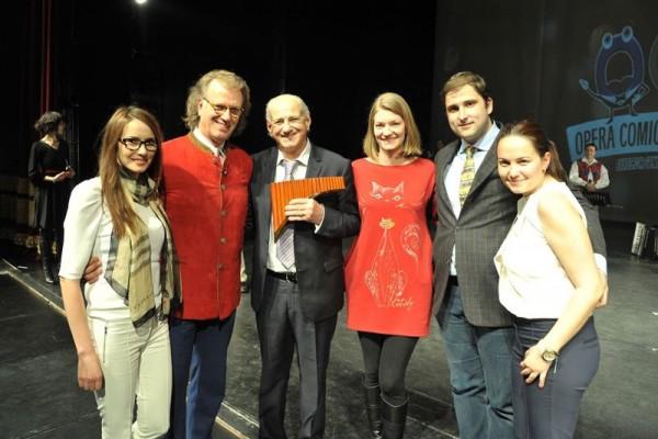 Andre Rieu și Gheorghe Zamfir la Opera Comică din București