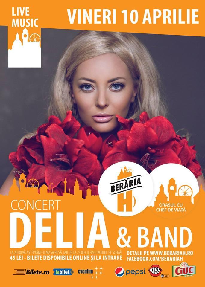 Afiş concert Delia la Berăria H