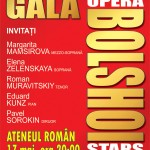 Afiș Gala Bolshoi Opera Stars la Ateneul Roman pe 17 mai 2015