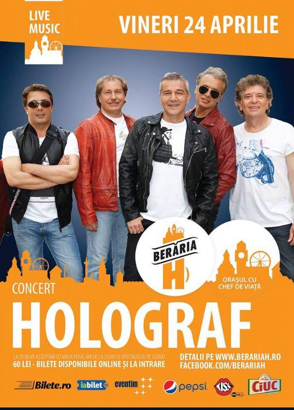 Afiș concert Holograf la Berăria H pe 24 aprilie 2015