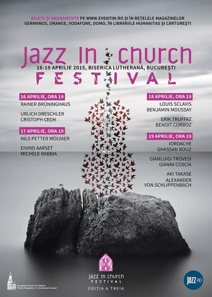 Afiș festival Jazz in Church 2015