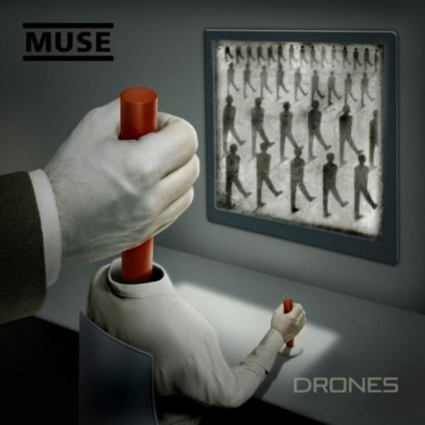 """Muse - """"Drones"""" (copertă album)"""