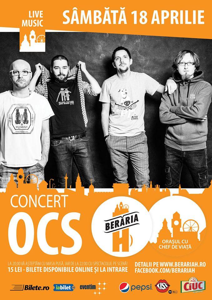 Afiș concert OCS la Berăria H