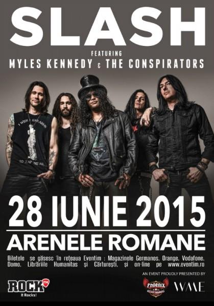 Afiș concert Slash, Myles Kennedy și The Conspirators Romania 2015
